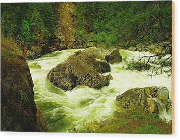 The Selway River Wood Print by Jeff Swan