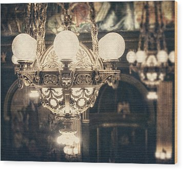 The Senate Chandeliers  Wood Print by Lisa Russo