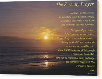 The Serenity Prayer Wood Print