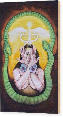 The Serpent's Gift Wood Print by Rebecca Barham