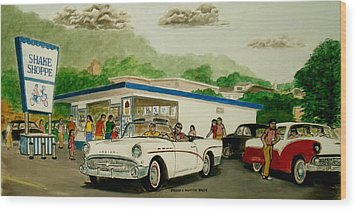 The Shake Shoppe Portsmouth Ohio 1960 Wood Print