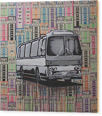 The Shame Train Wood Print by Kate Tesch