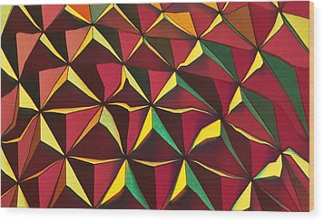 Shapes Of Color Wood Print
