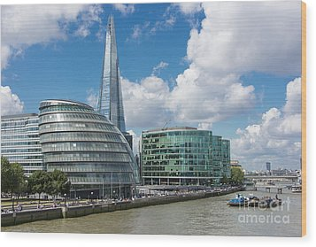 The Shard London Wood Print by Donald Davis