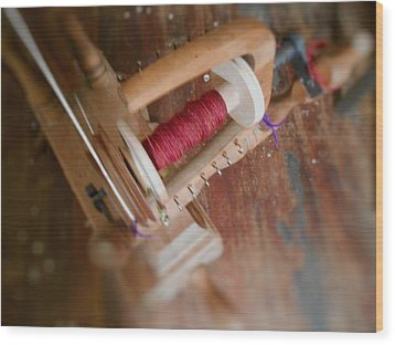 The Shawl Yarn Wood Print by Aliceann Carlton