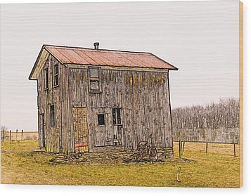 The Shed Wood Print by David Simons