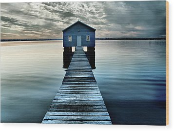 The Shed Upon The Water Wood Print