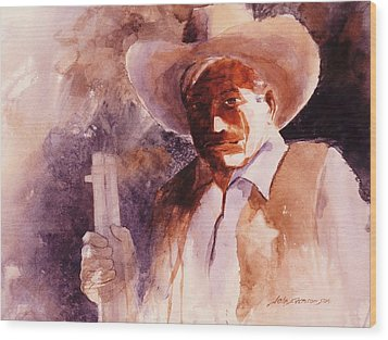 Wood Print featuring the painting The Sheriff  by John  Svenson