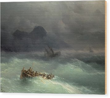 The Shipwreck Wood Print by Ivan Konstantinovich Aivazovsky