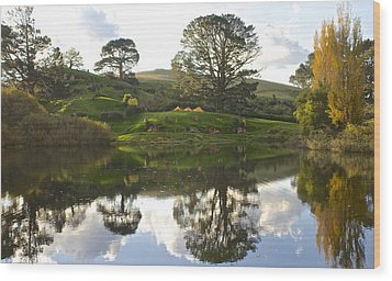 The Shire Middle Earth Wood Print by Venetia Featherstone-Witty
