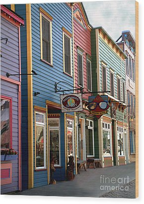 Wood Print featuring the photograph The Shops In Crested Butte by RC DeWinter