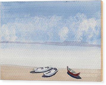 The Shore Wood Print