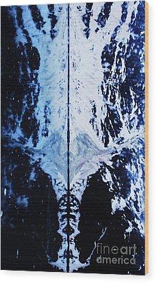 The Shroud Of Glacier Bay Wood Print by Marcus Dagan