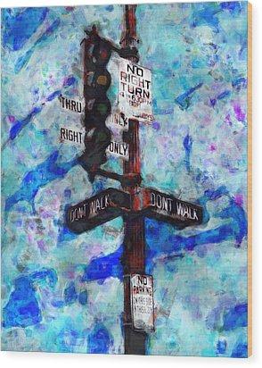 The Signal Wood Print by Jack Zulli