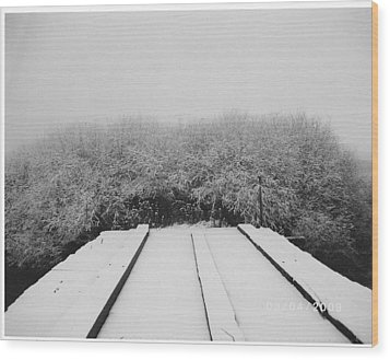 The Silence Of Winter Wood Print by James Rishel