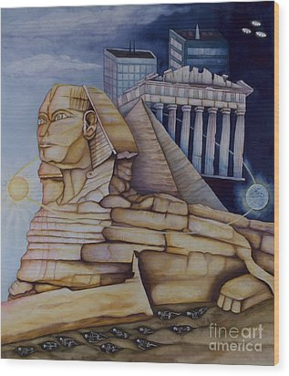 The Silent Witness Of Civilizations Past And Those Yet To Be Born Wood Print by Rebecca Barham