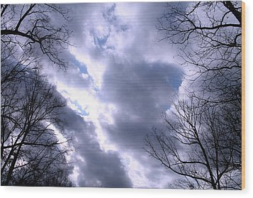 Wood Print featuring the photograph The Silver Lining by Candice Trimble