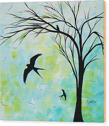 The Simple Life By Madart Wood Print by Megan Duncanson