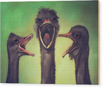 The Singers Wood Print by Leah Saulnier The Painting Maniac