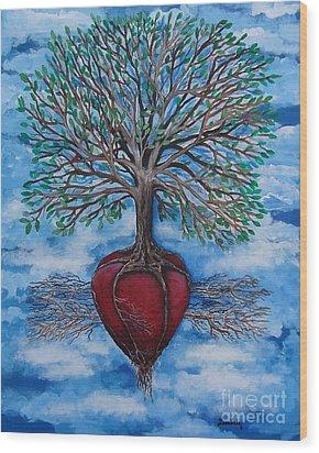 The Singing Bird Wood Print