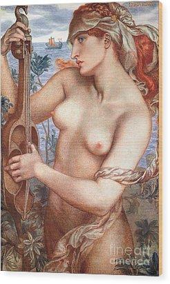 The Siren Wood Print by Dante Charles Gabriel Rossetti