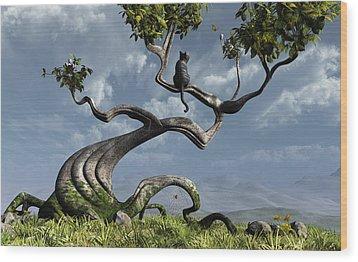 The Sitting Tree Wood Print by Cynthia Decker