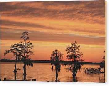 The Sky At Sunset Wood Print by Carolyn Ricks
