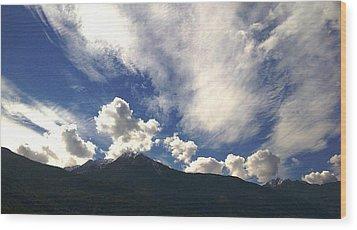 The Sky Wood Print by Giuseppe Epifani