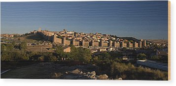 Wood Print featuring the photograph The Skyline Of Avila Spain by Farol Tomson