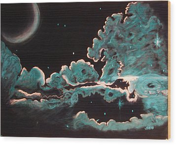 The Skys The Limit Wood Print by Joseph Hawkins