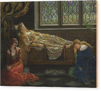 The Sleeping Beauty Wood Print by John Collier