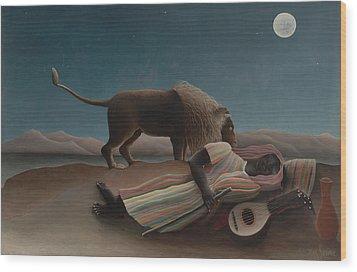 The Sleeping Gypsy Wood Print