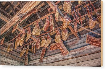 The Smokehouse Wood Print
