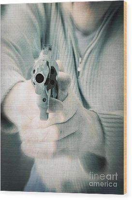 The Smoking Gun Wood Print by Edward Fielding