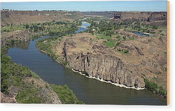 The Snake River Canyon Idaho Wood Print
