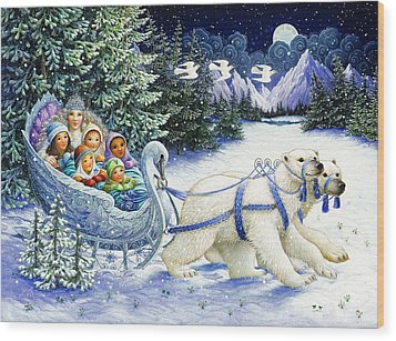 The Snow Queen Wood Print by Lynn Bywaters