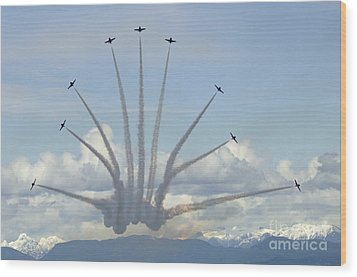 The Snowbirds In High Gear Wood Print by Bob Christopher