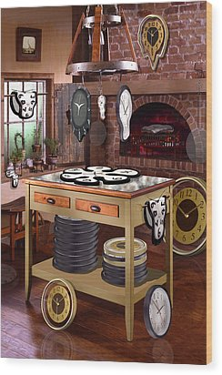 The Soft Clock Shop 2 Wood Print by Mike McGlothlen