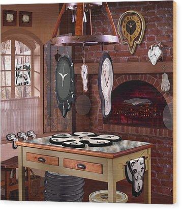 The Soft Clock Shop 3 Wood Print by Mike McGlothlen