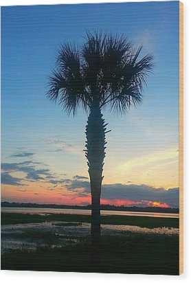 The Solo Palm Wood Print by Joetta Beauford