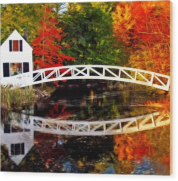 The Somesville Bridge Wood Print