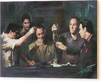 The Sopranos Wood Print by Viola El