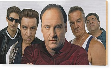 The Sopranos  Artwork 2 Wood Print by Sheraz A