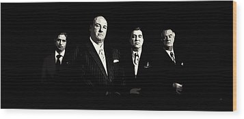 The Sopranos Wood Print by Laurence Adamson