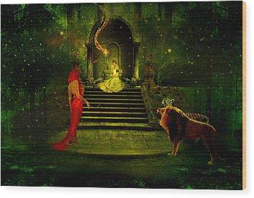The Sorceress Wood Print by Amanda Struz