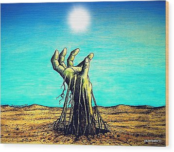 The Soul Is For The Truth Like The Root Is For The Land Wood Print by Paulo Zerbato