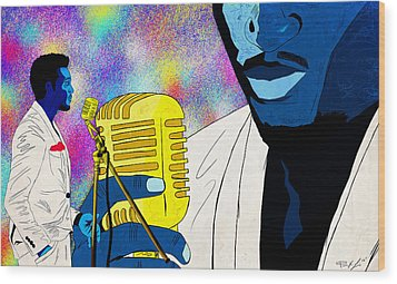 The Soul Singer Wood Print by Kenal Louis