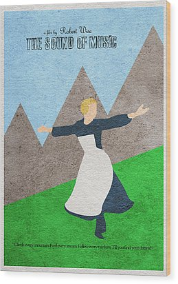 The Sound Of Music Wood Print by Ayse Deniz