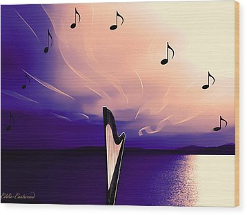 The Sounds Of Sunset Wood Print by Eddie Eastwood