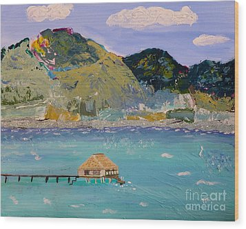 Wood Print featuring the painting The South Seas by Phyllis Kaltenbach
